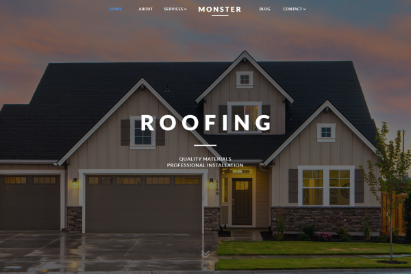 Monster Roofing | Website Design / SEO