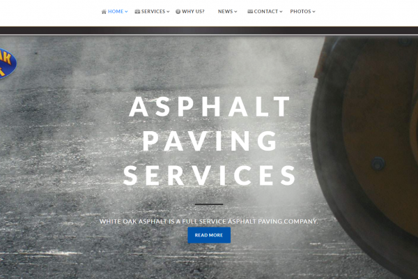White Oak Asphalt: Website Design